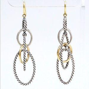 DAVID YURMAN silver and gold mobile drop earrings